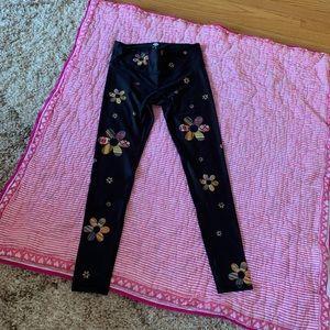 Pants - NOLI LEGGINGS WORKOUT PANTS NWOT FLOWERS BLACK